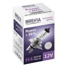 Автолампа Brevia H4 12V 60/55W P43t Power +30% CP (12040PC)
