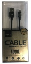 Кабель iMax Nylong Cable new micro black