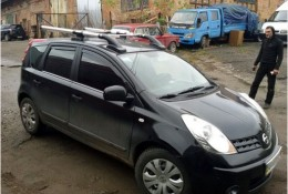 Рейлинги Nissan Note 2004-2012 SHARK