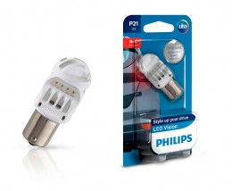 LED лампа Philips Vision LED P21 12V Red 12839REDB1