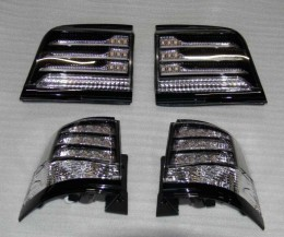 Задние фонари Toyota Land Cruiser 200 2007-2015 (2 шт. LED) BlackEdition Cixtai