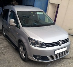 Накладки на зеркала Volkswagen Caddy 2003-2015 (2 шт. нерж.) Carmos