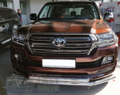 ST-Line ѕередн¤¤ защита ус Toyota Land Cruiser 200 2015-2019 (d60/60 F3-10)